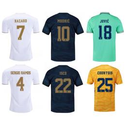Argentina 2019/20 Real Madrid Soccer Jersey # 23 # 7 PELIGRO MODRIC ISCO Uniforme de fútbol 2020 # 18 JOVIC # 20 ASENSIO SERGIO RAMOS RODRYGO Camisetas de fútbol Suministro