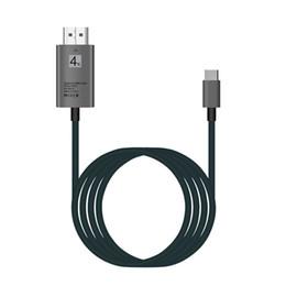 Tipo C a HDMI Adaptador 4K USB Tipo-C 2m 6FT 3.1 Macho a HDMI Hombre Convertidor HDTV Para MacBook Pro Para Surface Book Samsung S9 Huawei Xiaomi desde fabricantes