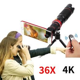 2019 teleskop mobil für iphone HD Handy 4K 36x Teleskop Kamera Optisches Zoom Objektiv Handy Teleobjektive Für iPhone Samsung Huawei Smartphone rabatt teleskop mobil für iphone