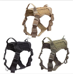 Zug-patches online-Tactical Dog Training Camouflage Weste Military K9 Wasserdicht Harness Abnehmbare Large Dogs Kleidung Molle Patches Pouches Hundebekleidung