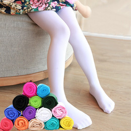 tights for toddlers Promo Codes - Toddler Kids Skinny Slim Leggings Girl Candy Color Summer Stretchy Pants Children Pants Teenage Girls Leggings For Girl Clothes