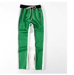 Design specialewholesale Nuovi pantaloni con zip laterali Hip Hop Fear Of  God Abbigliamento Urban Fashion Pantaloni rossi Justin Bieber Pantaloni da  jogging ... cdd8335d9d20