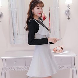 2017 New Women Fashion Dress Suits Spring And Autumn Long Sleeves O-neck  Cute Style A-line Plus Size Patchwork Party Club Work aec23409f749