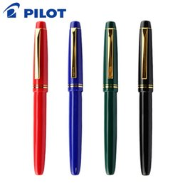 ручка золотая нить Скидка PILOT 22K Gold Fountain Pen 1PCS FP-78G Set EF / F / M B Nib Optional Writing Fountain Pens Stationery Office School Supplies
