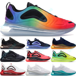 Air Max 720 Fierté Total Eclipse Hommes Femmes Chaussures De Course Rose Mer Chaud Lave Noir Carburant Orange Be True Volt Noir Blanc Platine Baskets