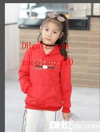 kleidung kinder koreanischen marken Rabatt Kinder Marke Hoodies Kinder sogar Caps koreanische Ausgabe Mädchen Freizeit Bewegung Ärmel Kopf Pullover Kinderkleidung Baby-Kleidung