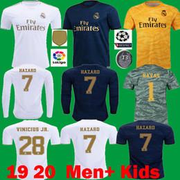 Jogador longo on-line-2019 2020 Real Madrid PERIGO Camisas De Futebol Jogador Verção camisetas de futbol 19 20 maillots RM Crianças VINICIUS Long ASENSIO Camisas De Futebol