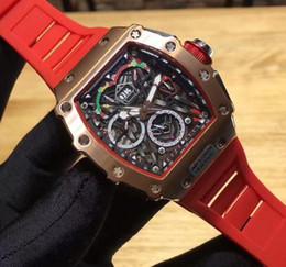 Argentina Proveedor de fábrica AAA marca de lujo superior para hombre relojes de titanio Oro Rosa Inoxidable Rojo Banda de goma mecánico automático Hombres relojes deportivos supplier titanium watch bands Suministro