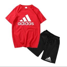 2019 menino crianças define crianças t-shirt e calça crianças conjuntos de algodão bebê meninos meninas verão terno bebê esporte terno 2pcs conjunto coco de