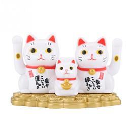 Fortuna de decoracion online-Sacudiendo las manos Lucky Cat Checkout Counter Decoración Waving Cat Oranment Para Oficina en casa Tienda Decoración Riqueza Fortune Cats Artesanía