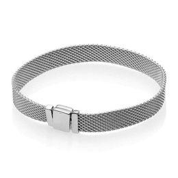 2019 silber armband frauen einfache verschluss NEU Mode Uhrenarmband Frauen Hand Kette Reflexionen Armband für Pandora 925 Sterling Silber Armbänder
