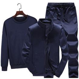Progettista di marca UOMO 3 pezzo set tuta giacca con cappuccio pantaloni jogger  tuta cappotto pullover pantaloni abiti tuta sportiva tuta invernale vestiti 16257dc2585