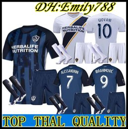 Kit per adulti # 9 IBRAHIMOVIC soccer Football 2019 2020 LA Galaxy Kit da uomo in trasferta maglia da calcio 19 20 # 8 GERRARD BECKHAM Pullover + pantaloncini da