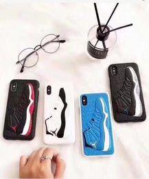 Крышка кроссовок онлайн-Sneaker модель мягкой силиконовой резины мобильного сотового телефона чехол чехол для Iphone 6 / 6S 7 8 плюс X XS 11 про макс