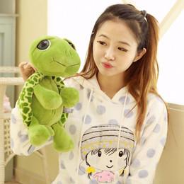 Grande tartaruga peluche occhio online-Baby Super Green Big Eyes Farcito Tartaruga Tartaruga Animale Peluche Regalo Giocattolo Per Bambini 20CM Caldo