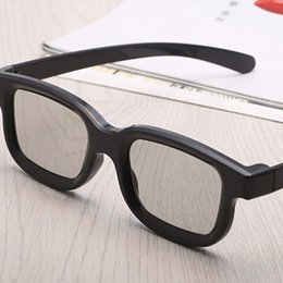 Универсальный пассивный круговой 3D поляризованные очки для кино унисекс ABS рамка стерео не вспышка для 3D ТВ кинотеатров supplier abs movies от Поставщики abs movies