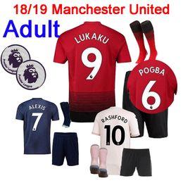 ac2b32272 cotton soccer shirts Canada - Top quality 2018 ALEXIS LUKAKU man kits kit  soccer jersey POGBA