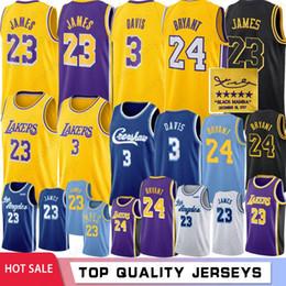 Новый баскетбол джерси онлайн-NCAA Crenshaw 23 Леброн Джеймс 3 Энтони Дэвис Лос-Анджелес Лейкерс Баскетбольные майки 24 Коби Брайант 8 Брайант 32 Джонсон 0 Кайл Кузьма Мужчины Молодежь