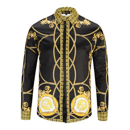 lange schwarze t-shirts Rabatt Herrenhemd Schwarzes Gold bedruckte langärmliges Hemd grenzüberschreitende Herren Designer T-Shirts T-Shirt Kleidung aus weißen Kleidungsweiß T-Shirts