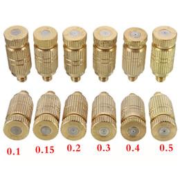 Fontes de cobre on-line-Bocal de Pulverizador De cobre Umidificador Bico 3/16 Conector Fonte de Irrigação de Vegetais 0.1-0.7mm Acessórios de Jardinagem 4 pçs / lote