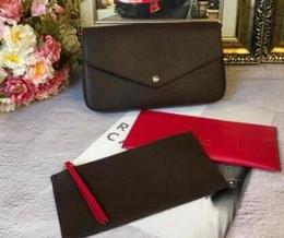 2019 malas único queque 2019 nova moda POCHETTE FELICIE cadeia saco de três peças de alta qualidade de couro real eva bag lady todo o jogo ombro simples