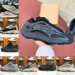 Scarpe alte per i mens online-2019 Adidas Yeezy wave runner 700 Boost sply 500 V2 Yeeyz Shoes corsa 700 V3 Alvah Azael 3M Reflective V2 Mist Alien Mens Donne Trainer Sneakers