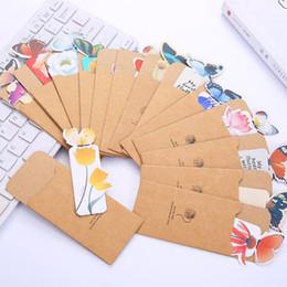 marcadores de papel mariposa Rebajas 6 unids Libros Marcas Estampado de flores Marcador Papelería Mini Papel Estéreo 3D Marcadores de mariposa para niñas Mujeres Regalos Color al azar