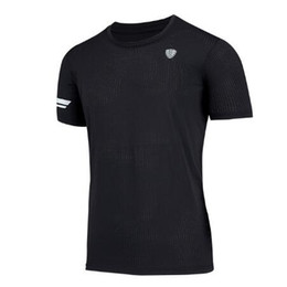 Maglia a secco online-Running T Shirt Men Gym Tshirt Poliestere traspirante Dry Fit Sport Nuovo Quick Dry Basket Blue Fitness Allenati