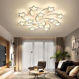 techo de madera moderno Rebajas Nordic llevó la lámpara por un salón dormitorio de la lámpara del comedor sala de estudio de techo creativa accesorios modernos de luz
