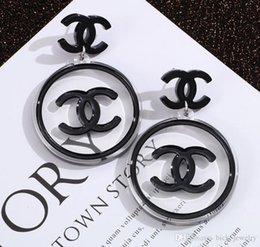 brazaletes asiáticos de plata Rebajas Lujo al por mayor de joyería pendientes Carta nuevas mujeres de gran tamaño Pendientes elegantes para regalo envío