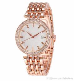 Genf rhinestone-legierungsuhr online-Luxus frauen Uhren Brand New Fashion Strass Klassische Legierung Strap Genf Quarzuhr Automatische bewegung Armbanduhren A014