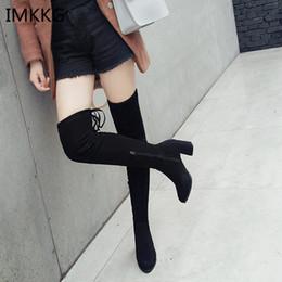 botas de inverno altas confortáveis Desconto 2018 novas botas de inverno das mulheres da moda sexy apontado preto plus algodão botas quentes moda feminina confortável de salto alto V392