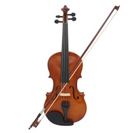 partes de violino usadas Desconto Violino Natural acústico de madeira sólida Spruce Flame Bege Veneer violino violino com caso Rosin Bow Cordas ombro resto