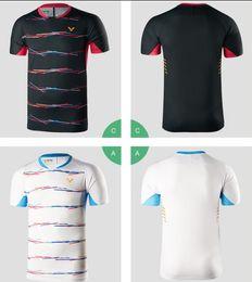 2019 victor badminton camisas Novo 2019 Victor Badminton T-shirt, T-shirt de tênis para homens / mulheres, camisa esporte de badminton masculina, Quick Dry Sportswear Tênis de mesa, Shippin grátis victor badminton camisas barato
