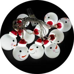 Argentina Lámparas de plástico coloreadas Cadena Decoración de la fiesta de Navidad Festival blanco cálido Suministros para el hogar Baterías LED Muñecos de nieve Bombillas 9tl hh supplier christmas lamp battery warm white Suministro
