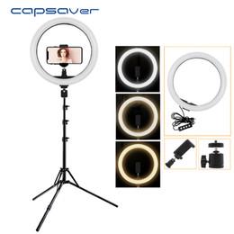 Argentina Capsaver 12 pulgadas LED Anular de la lámpara Anillo de luz regulable 2700K / 5500K CRI90 12W USB Iluminación fotográfica USB para video YouTube Photo Suministro