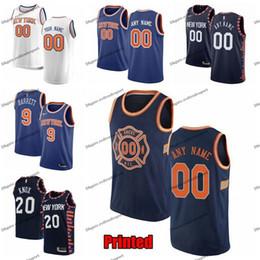 new york basketball Promotion Knicks de New York imprimés Emmanuel Mudiay, Dennis Smith Jr. RJ Barrett 9 Ntilikina Kevin Knox 6 Maillot de basketball DeAndre Jodan Edition