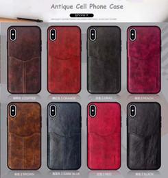 2019 новый античный сотовый телефон чехол для iPhone 678X слот для карт высокого качества TPU кожа дорогой вид от