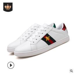 0404197f 2019 hombres y mujeres de primavera modelos de moda casual cómodo impresión pequeños  zapatos blancos boca baja zapatos deportivos coreanos hombres shi ...