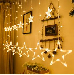 Estrela decorativa da luz de natal on-line-Oferta especial do dia de Natal LEVOU estrela luz luzes seqüência de bateria fotos decorar a sala decorar luzes decorativas