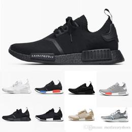64152b29533b wholesale R1 Primeknit Mens Designer Shoes 2019 New OG Release Running Shoes  Black Blue White Red Sport Sneakers Size 36-45