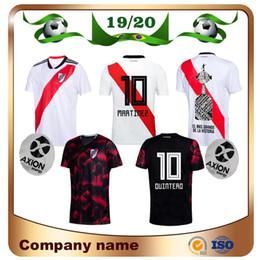 maglie di piattaforma fiume Sconti 2020 River Plate home bianco Soccer Jersey River Plate via nero G.MARTINEZ QUINTERO PRATTOSoccer Shirt 19/20 riverbed Football Uniform Vendita