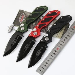Marca de aluminio online-Microtech DOC Killswitch D2 Mark Cuchillo para acampar Elmax Blade Mango de aluminio Cuchillos tácticos para exteriores Herramienta EDC Cuchillo plegable