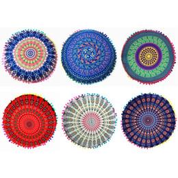 Canada Taie d'oreiller Gradient Fleur Mandala Indien Coussins De Sol Europe Nordic 6 Styles Coussin Cas Polyester Ronde Home Decorative Taie d'oreiller cheap indian style cushion covers Offre