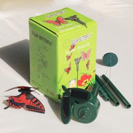 2 stili Solar Rotating Volare Simulazione Farfalla Sbavatura Vibrazione Colibrì Giardino Vagone Decorazione Giocattoli per bambini giocattoli DHL JY218 da