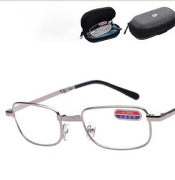 bd4493fb2bf74 Dobrável óculos de leitura óculos de leitura de metal com caixa de  conveniência no bolso de boa qualidade óculos de leitura kka6437