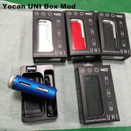 diy titane dab clou Promotion Authentique Yocan UNI Vape Stylo E Boîte à cigarettes Vape Mod 650mAh Préchauffer VV Batterie à tension variable pour toutes les cartouches d'huile à adaptateur de fil 510