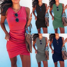 Наряжать платья онлайн-Фонд женской одежды Draw Away Нерегулярные пакет без рукавов ягодицы сексуальное платье