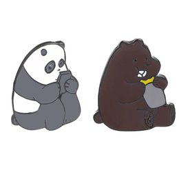 pandas games Coupons - Alloy Brooch Cute Panda Mobile Game Little Grizzly Bear Cartoon Character Brooch Pin Two Choose One