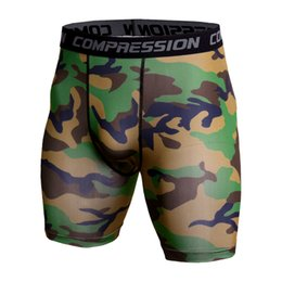 mma compression shorts Promo Codes - Gym Short Leggings Men Compression Crossfit Shorts Mens Running Shorts Camouflage Bermuda Shorts Jogging Bodybuilding Tights MMA